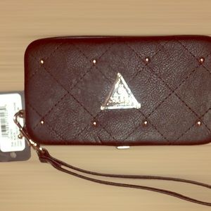 NWT Guess Quilted Studded Cell Phone/CC Holder